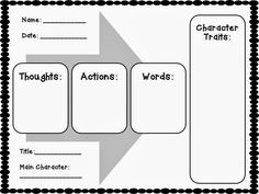 Teaching Character Traits with Graphic Organizers