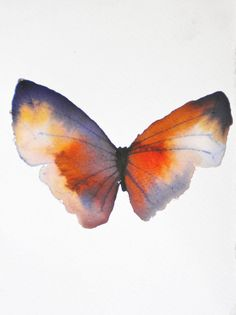 Rust and Gold Butterfly Print from Metamorphosing shop on Etsy. Butterfly Painting, Butterfly Watercolor, Butterfly Print, Watercolor Cards, Abstract Watercolor, Watercolor Paintings, Watercolors, Floral Illustrations, Illustration Art