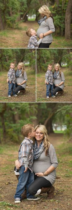 gray and navy natural woods Maternity Photographer mom and son