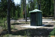 one of two outhouses at edna creek campground