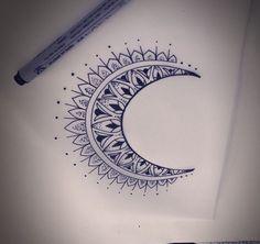 2016-17 Moon Tattoo Designs Pictures Ideas | Tattoozat