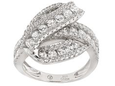 Bella Luce (R) 2.95ctw Rhodium Over Sterling Silver Ring (1.62ctw Dew)