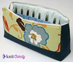 Interchangeable knitting needle pouch, open view, by MissCeceP, via Flickr  She is also on FACEBOOK!!!!!!