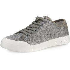 Rag & Bone Standard Issue Wool Lace-Up Sneaker ($195) ❤ liked on Polyvore featuring shoes, sneakers, grey wool, shoes sneakers, lace up flat shoes, waterproof sneakers, lace up sneakers, low profile sneakers and gray shoes