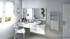 Salle de bain toute blanche, pureté et élégance
