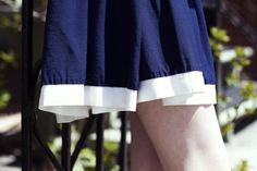 Blue skirt | FASHION IS MY RELIGION | photo Alex C.D. photography | www.fashionismyreligion.ca