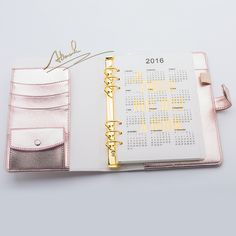 Abook Free shipping new A5 planner diary agenda kawaii stationery journal office supplies Hasp rose pink gold color wholesale