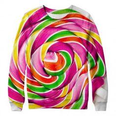 Men's Circle Candy  Full-printed Sweatshirt W145