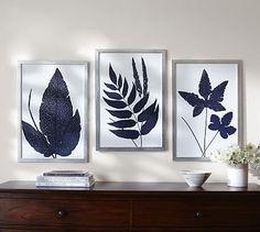 Indigo Ferns Framed Prints #potterybarn