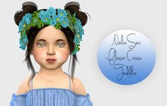 Sims 4 CC's - The Best: Nolan-Sims Flower Crown - Toddler Version by Fabie...