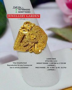 Gold Earrings Designs, Gold Jewellery Design, Gold Ring Indian, Latest Gold Ring Designs, Gold Finger Rings, Bridal Bangles, Gold Rings Jewelry, Half Girlfriend, Mj