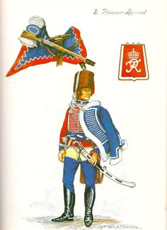 Prussia; 2nd Hussars, Hussar, c.1750 by G.Dorm