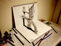 Nagai Hideyuki, 21, from Japan, uses a pencil to conjure up amazing objects (Caters)