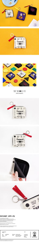 [THENCE [덴스]] CARD POCKET_WHITE_WTG