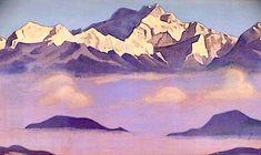 Kangchenjunga, 1947 by Nicholas Roerich. Symbolism. landscape