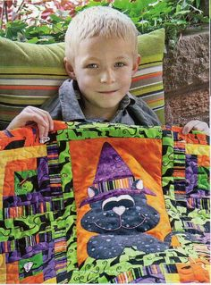 Wee Witchy Kitty Quilt Pattern Pieced/Applique HP