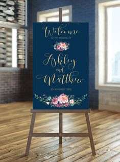 This is a downloadable custom wedding sign 24x36 or another size you want! Order includes:  - JPG : 24x36   HOW TO ORDER: 1. Purchase this listing 2. Convo me or text in note to seller at checkout the names, date and size of sign you want. 3. Your custom sign will be designed to the style featured in the images above, typically within 3 business days. But at high season (April-August) turnaround time is 2-5 business days. 4. You will receive a visual proof of your custom typography design to…