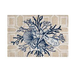C/&F Home Hooked South Seas Tropical Rug Red