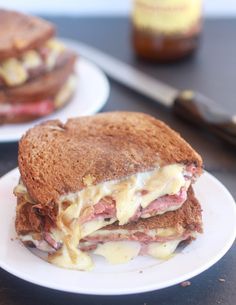 Pastrami and Caramelized Onion Grilled Cheese - Umm yes please!  #sandwich #recipe