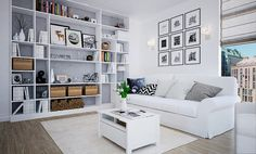 Скандинавский стиль. Гостиная Safari, Scandinavian Interior, Apartment Design, The Hamptons, Sweet Home, Shelves, House Design, Living Room, Bedroom