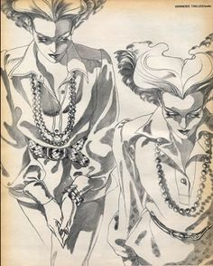 #6- Fashion illustration by Antonio, 1973,  Blouse Annie Rivemale, Tunique Jean…