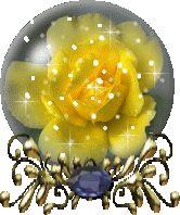 glitter graphics yellow | Glitter Graphics » Flowers and trees » yellow rose globe