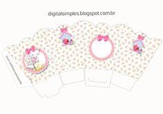 "Convites Digitais Simples: Kit de Personalizados Tema ""Passarinhos"" para Meninas para Imprimir"