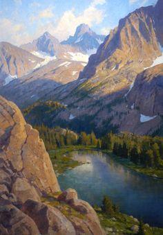 """Above 6th Lake, Big Pine Canyon"""" Oil    46"""" X 32"""""""