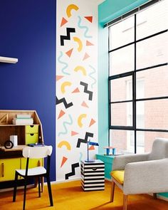 Bondville: Memphis style - the Eighties shape confetti interiors trend Recreate with chalkpaint Interior Design Trends, Interior Inspiration, Interior Decorating, Inspiration Design, Color Interior, Memphis Design, Memphis Art, Memphis Milano, Memphis Tennessee