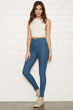 High-Waisted Super Skinny Jeans | Forever 21 - 2000151564