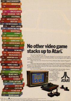 Anúncio Atari, década de 80