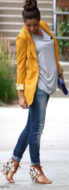 Fall Fashion 2014 - aztec tank: c/o elysian boutique, blazer: lolabella, jeans: c/o elysian boutique, shoes: c/o zooshoo, clutch: steve madden, watch: michael kors.