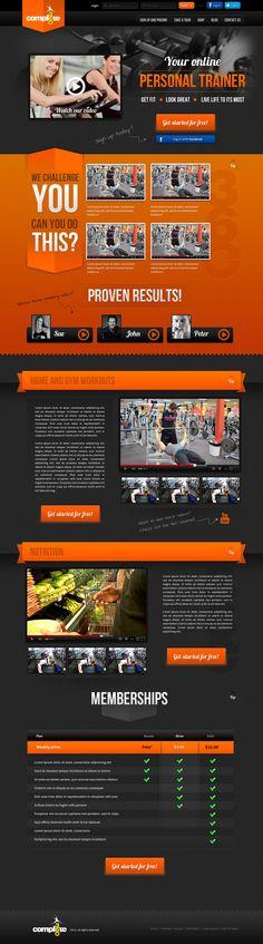 Complete 360 - Fitness UI Design by shresthasans on