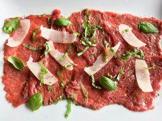Carpaccio de boeuf Chef Simon, Food Photo, Starters, Tuna, Beef, Parmesan, Gluten, Salads