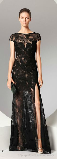 ~ Sorry Escada... this dress needs beautiful fabric feminine shoes with the…