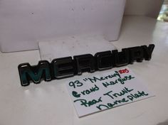 1993 Mercury Grand Marquis trunk emblem logo badge symbol nameplate oem 825 #oemMercury