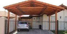 Resultado de imagen para cobertizo de madera Corner Pergola, Backyard Pergola, Fire Pit Backyard, Pergola Shade, Gazebo, Pergola Ideas, Modern Porch, Vinyl Pergola, Patio Flooring