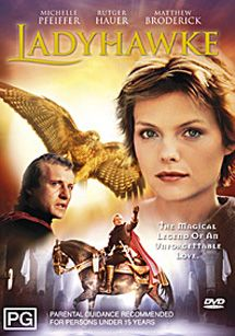 Ladyhawke  - 1985 - one of the most beautiful fairytale like movies ever.   I highly recommend