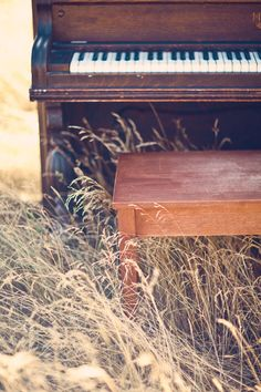 Piano in a wheat field.I want to play this Sound Of Music, Music Is Life, My Music, Piano Keys, Piano Music, Pub Radio, Elvis Presley, Piano Photography, Orchestra