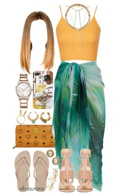 """""""Miami"""" by oh-aurora ❤ liked on Polyvore featuring MCM, Topshop, Gorjana, River Island, Accessorize, Forever 21, Havaianas, Lady Grey, Calvin Klein and Chanel"""