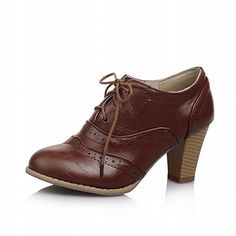 Charm Foot Vintage Womens High Heel Lace up Oxfords Shoes (6.5, Brown) Charm Foot http://www.amazon.com/dp/B00UX619QK/ref=cm_sw_r_pi_dp_UwYbwb0YHNTWP