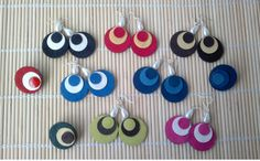 leather & suede circles earrings...felt might work for this idea also!