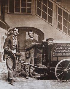 Straßenmusikanten um 1900 Wien