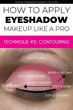 Eye makeup simple step-by step tips: How To Apply Eyeshadow Like A Pro #eyeshadow #makeuptips #eyemakeup