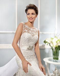 Demetrios lace gown