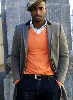 Men's Orange Style Inspiration | Famous Outfits