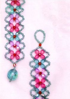 Collection of 4 petal flower beaded jewelry tutorials