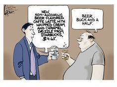 Editorial cartoon Starbucks coffee beer food Political and Editorial Cartoons - The Week
