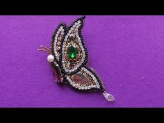 HAND EMBROIDERY: BROOCH |  ВЫШИВКА: БРОШЬ - YouTube