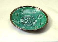 Goddess HECATE HEKATE  WHEEL And Key Offering Bowl Handmade Pottery on Etsy, $23.25